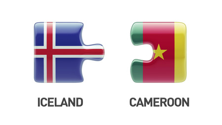 Ireland Cameroon High Resolution Countries Puzzle Concept photo