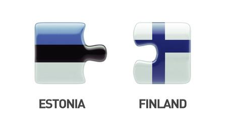 Estonia Finland High Resolution Puzzle Concept photo