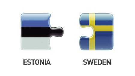 Estonia Sweden High Resolution Puzzle Concept