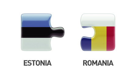 Estonia Romania High Resolution Puzzle Concept photo