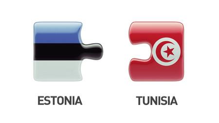 tunisie: Tunisia Estonia High Resolution Puzzle Concept Stock Photo
