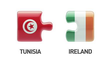 tunisie: Tunisia Ireland High Resolution Puzzle Concept