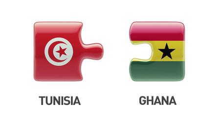 tunisie: Tunisia Ghana High Resolution Puzzle Concept