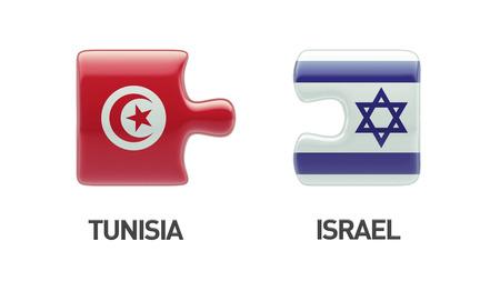 Tunisia Israel High Resolution Puzzle Concept photo