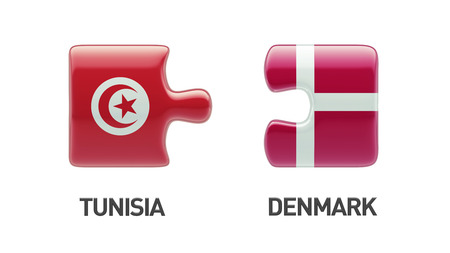 Tunisia Denmark High Resolution Puzzle Concept photo
