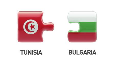 tunisie: Tunisia Bulgaria High Resolution Puzzle Concept