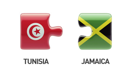 tunisie: Tunisia Jamaica High Resolution Puzzle Concept Stock Photo