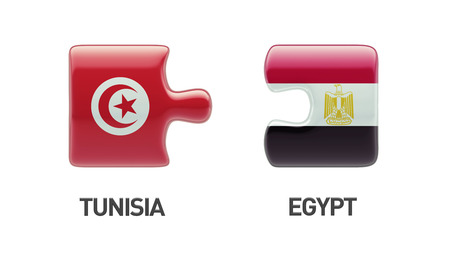 tunisie: Tunisia Egypt High Resolution Puzzle Concept Stock Photo