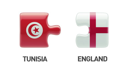 tunisie: Tunisia England High Resolution Puzzle Concept Stock Photo