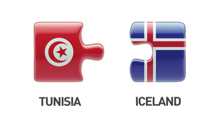 tunisie: Tunisia Iceland High Resolution Puzzle Concept