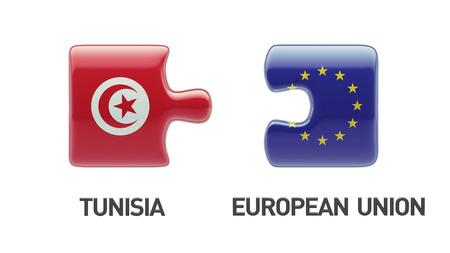 tunisie: Tunisia European Union High Resolution Puzzle Concept Stock Photo