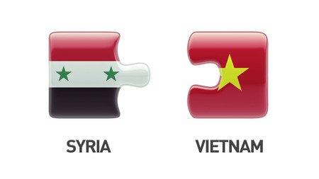 Syria Vietnam High Resolution Puzzle Concept photo