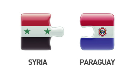 Syria Paraguay High Resolution Puzzle Concept photo