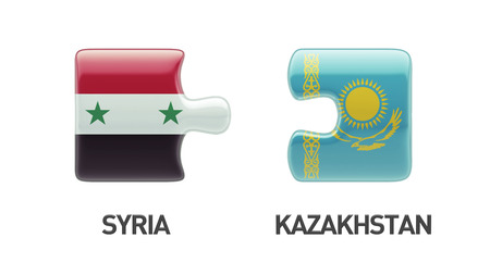 Syria Kazakhstan High Resolution Puzzle Concept photo