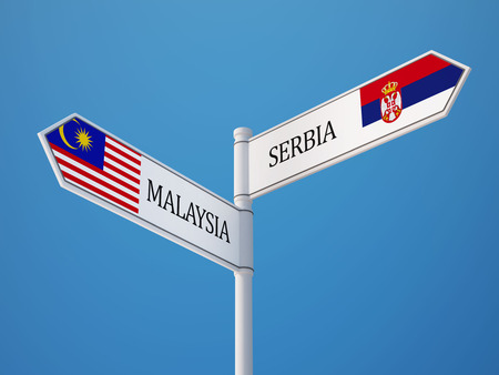 South Africa Malaysia High Resolution Sign Flags Concept photo