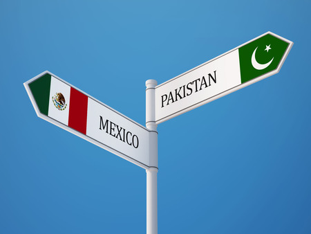 pakistani: Pakistan Mexico High Resolution Sign Flags Concept