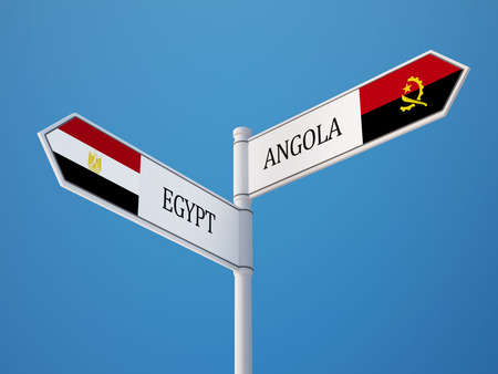 Angola Egypt High Resolution Sign Flags Concept photo