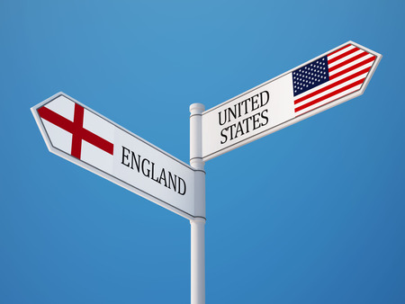 United States England High Resolution Sign Flags Concept photo