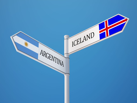 the icelandic flag: Iceland Argentina High Resolution Sign Flags Concept