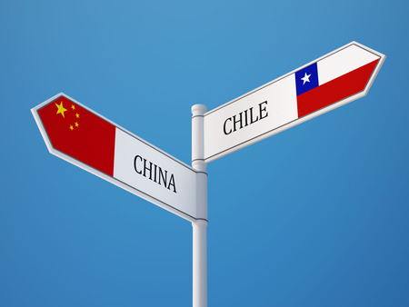 China Chile High Resolution Sign Flags Concept