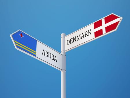 danish flag: Denmark Aruba High Resolution Sign Flags Concept