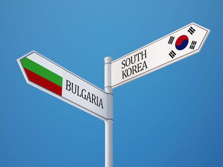 Bulgaria South Korea High Resolution Countries Sign Concept photo