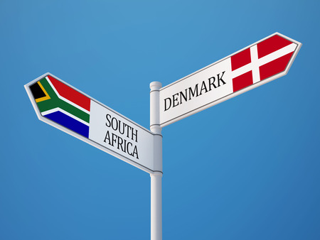 Serbia Denmark High Resolution Sign Flags Concept photo