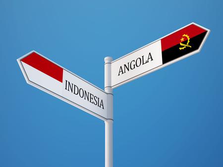 sumatra: Indonesia Angola High Resolution Sign Flags Concept