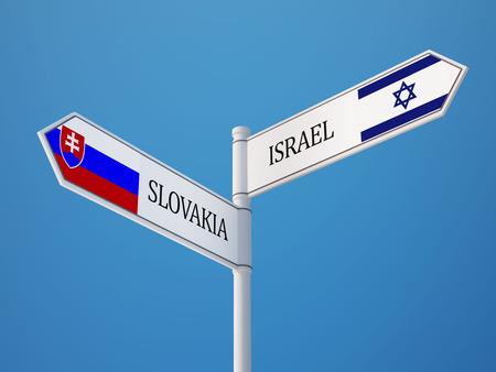 slovakia: Slovakia Israel High Resolution Sign Flags Concept