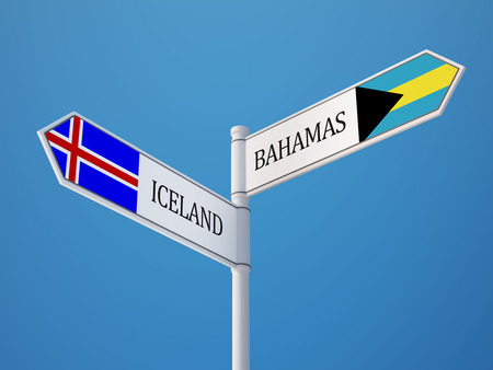 the icelandic flag: Iceland Bahamas High Resolution Sign Flags Concept