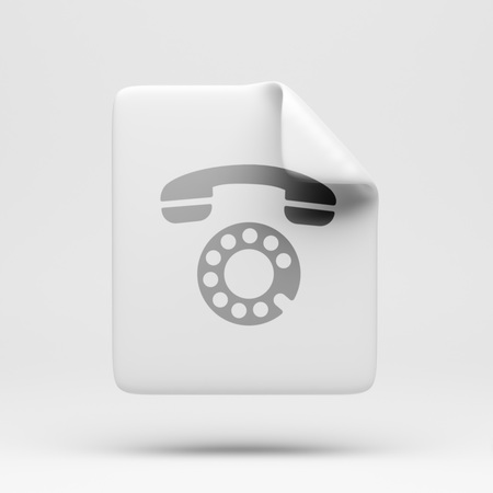 docs: File Contact Icon isolated on white