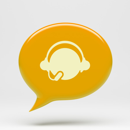 chat bubble: Chat Bubble Contact Icon isolated on white