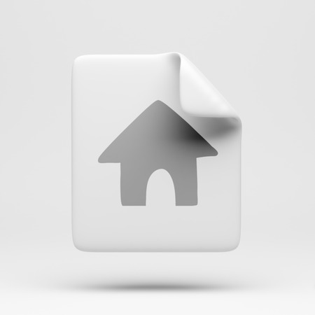 docs: File Home Icon isolated on white Stock Photo