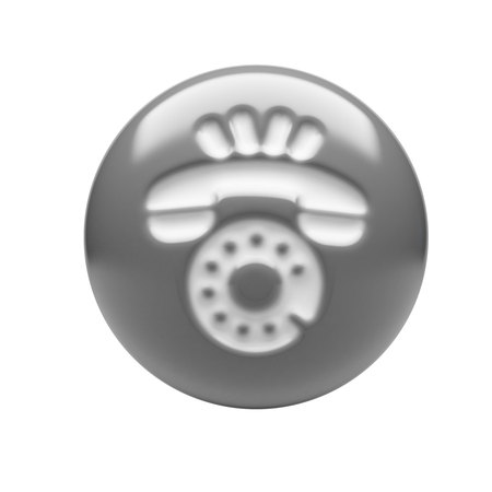 service sphere support web: Contact Icon isolated on white background