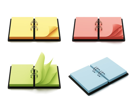 copyspace: Colorful agenda with copys-pace isolated on white background