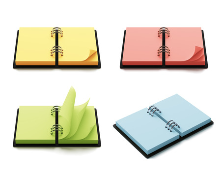 annotation: Colorful agenda with copyspace isolated on white background Stock Photo
