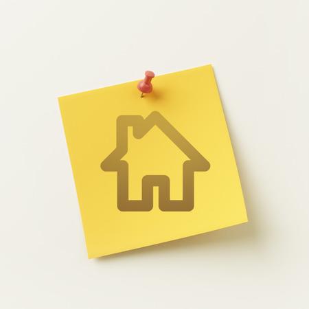 sticky note: High Resolution Sticky Note Home Icon