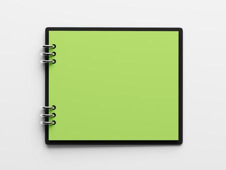 hoja en blanco: Libro Verde Bloc de notas en blanco aislado en fondo blanco