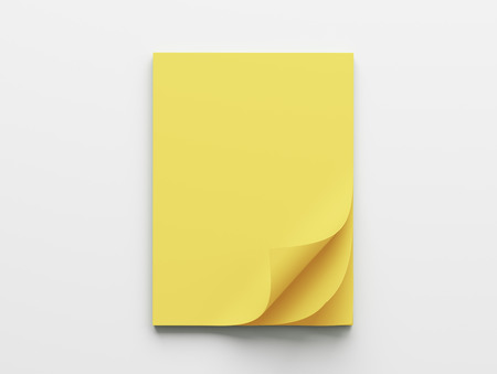 yellow paper: Blank Yellow Paper Notepad isolated on white background