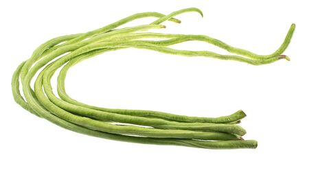 yard long bean isolated on white background