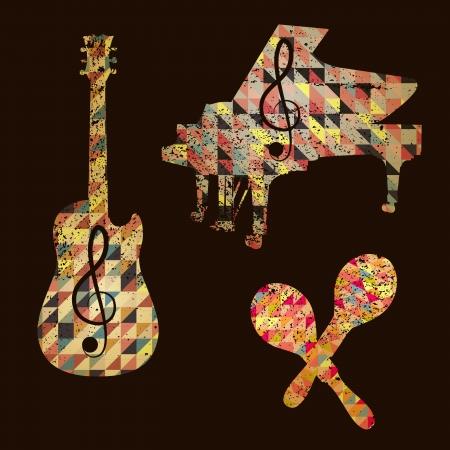 instrumentos musicales: patrones triangulares instrumentos musicales