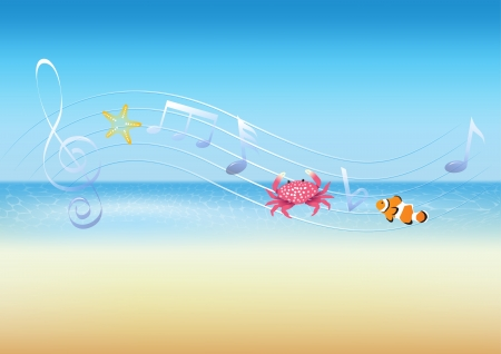The music of the sea Vector