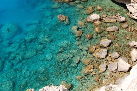 Stones in the Ionian Sea, Lefkada Greece Stock Photo