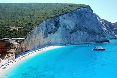 Porto Katsiki Beach on the island of Lefkada, Greece Stock Photo