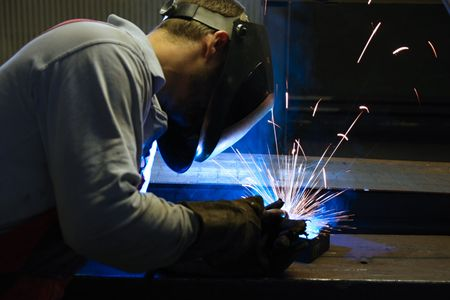 Welding in protective atmosphere of gases, MAG - Metal Active Gas Stock Photo - 5377697