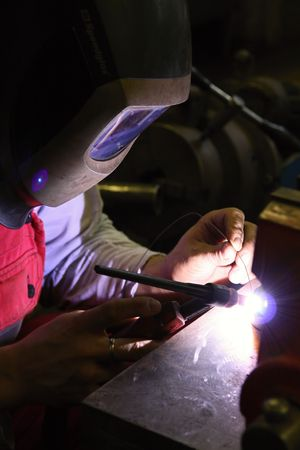 Welding in protective atmosphere of gases, TIG - Tungsten Inert Gas Welding Stock Photo - 5377698