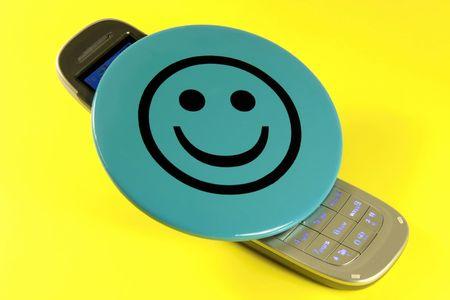 Happy mobile phone Stock Photo - 5414142