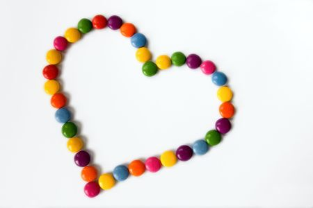 Colorful hearts made from sweets  photo