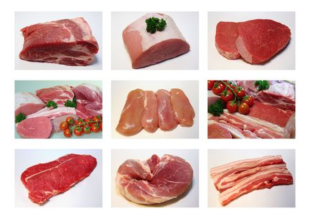 Meat collection, Meat Delicacies, Beef, Pork, Chicken