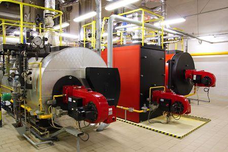 kunststoff rohr: Gas-Kessel  Lizenzfreie Bilder